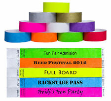 Custom Printed Tyvek Wristbands Event Security Admission Wristband - Red