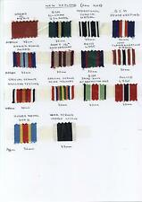"""6"""" or 12"""" of  Different FULL SIZE  Medal Ribbons of NEW ZEALAND"""