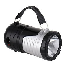 6 Leds Rechargeable Hand Lamp Collapsible Solar Camping Lantern Tent Lights