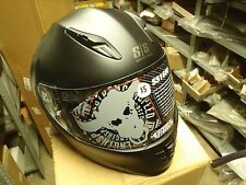 SS1600 Solid Speed Matte Black Motorcycle Helmet Speed and Strength