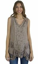 NWT Pretty Angel Clothing Chesapeake Vintage Lace Shirt Dress In Coffee 62818