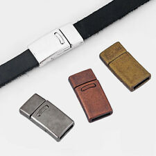 5 Sets 10x2mm Silver/Bronze/Copper Magnetic Clasp For 5mm-10mm Flat Leather Cord