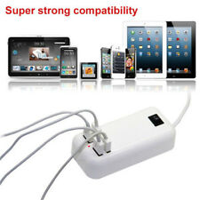 White 15W US/EU Plug 4 Port USB Home/Travel Wall Charger AC Adapter Cord Power