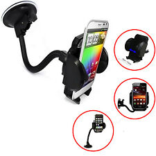 CAR,TRUCK WINDSCREEN SUCTION MOUNT+AIR VENT CRADLE STAND FOR LATEST SMART PHONES