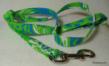 Lilly Pulitzer Roar of the Jungle Fabric Dog Leash-S/M/L-MadeUSA- NEW