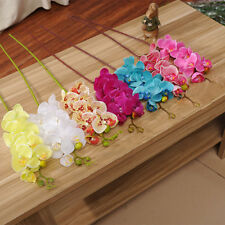 Artificial Fake Silk Flower Phalaenopsis Butterfly Moth Orchid Home Decoration