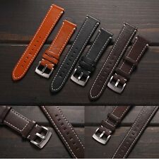 Genuine Leather Smart Watch Band Wrist Strap 20mm For Pebble Time Round + Tool