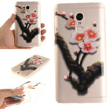 Plum Tree Branches Pattern TPU Soft  Rubber Case Skin Cover For Various Phones