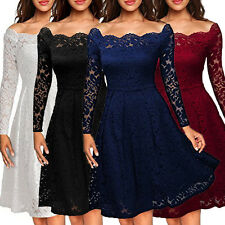 Vintage Women's Floral Lace Formal Cocktail Evening Party Dress Short Mini Dress