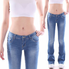 Ladies Bootcut Low-rise Jeans Impact Trousers Flares Cut Stretch Low Waist M6