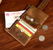 Hot Men's Genuine Leather ID Credit Card Holder Clutch Bifold Coin Purse Wallet