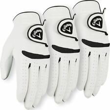 **Pack of 3** Callaway 2017 Weather Spann Mens All Weather Golf Glove Left Hand