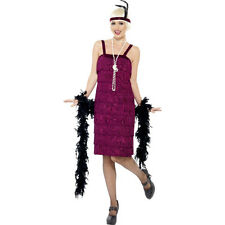 Womens Purple Jazzy Charleston Flapper Gatsby 20s Fancy Dress Costume 26110