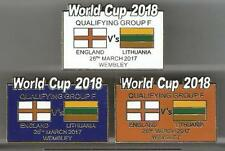 World Cup 2018 - England v Lithuania ~ Match Day Badge