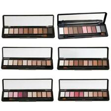 10 Colors Shimmer Eyeshadow Makeup Cosmetic Smoky Eye Shade Palette w/ Brush Kit