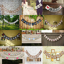 Multi-Style Paper Bunting Banner Hanging Garland Wedding Party Baby Shower Decor
