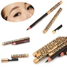 Waterproof Women Eyebrow Pencil Makeup Brush Leopard Eyeliner