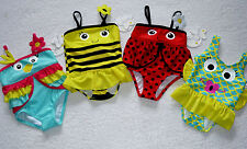 Baby Girls Ladybird Parrot Bee Swimming Costume Swimsuit 3-6-9-12-18-24 months