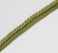FLANGED BINDING/PIPING 8 MM CORD,GREEN /GOLD. X  2 /  5 /  10  MTRS - PL-3161