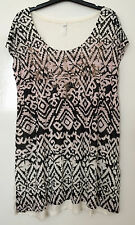 EX EVANS PLUS SIZE OMBRE AZTEC PRINT STUDDED PARTY TUNIC TOP NEW SIZE 18-32