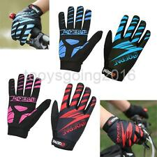 Gel Padded Full Finger Gloves Shockproof Cycling Bicycle Mountain Bike MTB Mitts