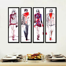 No Frame 4PC Fashion Hand  Men Nordic Canvas Art Wall Paintings for Living Room