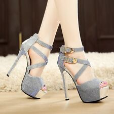 Fashion Sexy Women Pumps Platform Strappy sandals Stiletto Party Shoes High Heel