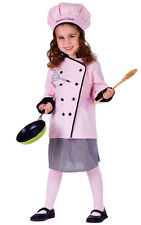 BUY GIRLS KIDS DELUXE GIRL MASTER CHEF COOKS DRESS COSTUME OUTFIT & HAT AGE 4-14