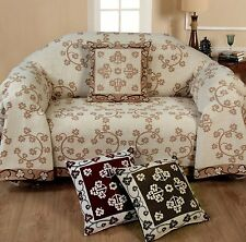Chenille Floral Throw Seater Sofa Settee Chair Throw Decorative Chic Stylish