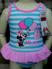 BNWT Baby Girls Disney MINNIE MOUSE Swimming Costume Swimsuit 6-9 months