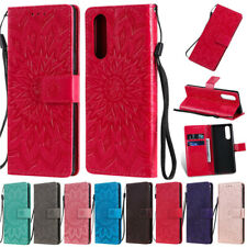 Luxury Sunflower Slots Wallet Leather Skin Flip Case Cover Stand For Sony Models