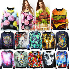 New Mens Womens 3D Graphic Printed Hoodie Sweater Sweatshirt Pullover Jumper Top