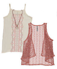 "Beautees Big Girls' ""Henna Tribe"" 2-Piece Top with Necklace (Sizes 7 - 16)"