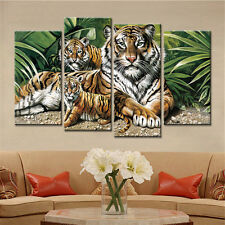 4PC No Frame Animals Tigers Canvas Painting Wall Picture Modular for Living Room