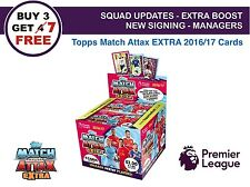Match Attax EXTRA 2016/17 SQUAD UPDATE, EXTRA BOOST, NEW SIGNING, MANAGER 2017