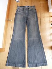 7 FOR ALL MANKIND GINGER WASHED BLUE GREY LOW FLARED FLARES JEANS 27 WAIST BNWT