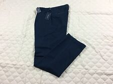 POLO RALPH LAUREN KHAKIS PANTS MENS CLASSIC PLEATED FIT NAVY BLUE SIZE 34X34 NWT