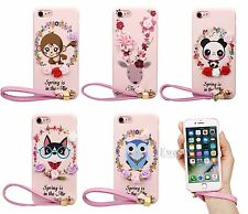 Lovely Cute Vibrant Spring 3D Flower Animal TPU Case Cover For iPhone 7 6S&Plus