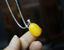 Tiny Yellow Jade Necklace, Sterling Silver Orange Jade Necklace Jade Pendant, St
