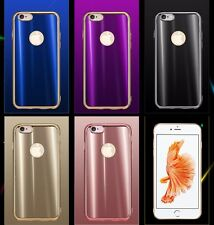 NEW COOL Bling Chrome TPU GEL Soft Back Case Cover For Apple iPhone 8 7 6S &Plus