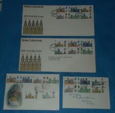 FIRST DAY COVERS BRITISH CATHEDRALS 28.5.1969 VARIOUS POSTMARKS - SELECT COVER