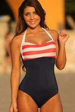 Ujena Sailor Girl Red White Blue 1-Piece Swimsuit Sexy Select Size CHEAP
