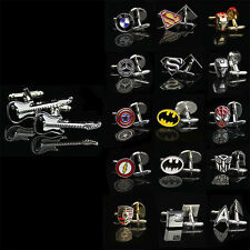 2017 Men Shirt Square DC Marvel Groom Super Hero Cuff Links For Nice Gift