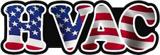 HVAC Heating Air Decal American US USA Waving Flag Vinyl Hard Hart Sticker Decal