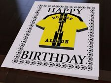 Burton Albion - PERSONALISED Greetings Card with Fridge Magnet