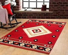 Southwest Southwestern Modern Area Rug Rustic Lodge Red 640