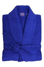 Unisex Adult Mens and Women Cotton Collar Bathrobe Dressing Gown