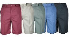 Mens Casual Chino Style Walk Shorts with Elasticated Sides 32-54 Comfort Fit NEW