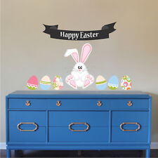 Easter Mural Decal Decoration Removable Wall Art Bunny Rabbit Art Holiday, h99