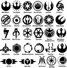 StarWars Symbol Vinyl Decal Sticker Door Window Star Wars Galactic USA Seller